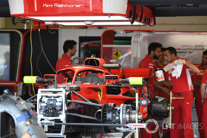 Ferrari SF71H in the garage