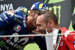 Podium : Valentino Rossi, Yamaha Factory Racing, Cristian Gabarrini, Ducati Team