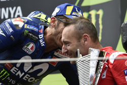 3. Valentino Rossi, Yamaha Factory Racing, mit Cristian Gabarrini, Ducati Team