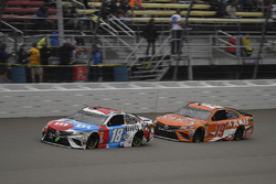 Kyle Busch, Joe Gibbs Racing, Toyota Camry M&M's Red White & Blue and Daniel Suarez, Joe Gibbs Racin