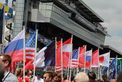 Vlaggen op de grid