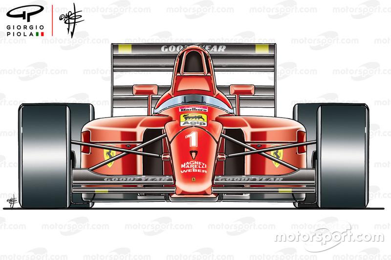 Ferrari F1-90 (641) front view