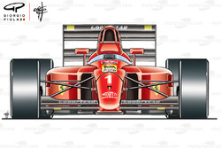 Автомобиль Ferrari F1-90 (641), вид спереди
