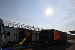 Red Bull Racing truck and freight