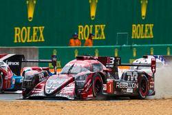 #1 Rebellion Racing Rebellion R-13: Andre Lotterer, Neel Jani, Bruno Senna with loose front bodywork
