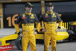 Robert Kubica, with team mate Vitaly Petrov, Renault F1 Team