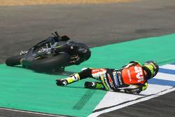 La chute de Cal Crutchlow, Team LCR Honda