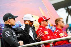 Valtteri Bottas, Mercedes AMG F1, Lewis Hamilton, Mercedes AMG F1, Kimi Raikkonen, Ferrari, Sebastian Vettel, Ferrari