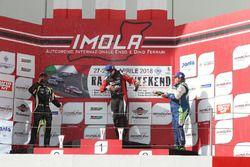 Podio DSG gara 2, Giovanni Altoe (Pit Lane Competizioni,Audi RS3 LMS-TCR #63), Francesco Savoia (GretaRacing MS,Seat Leon TCR #26), Ermanno Dionisio (Pit Lane Competizioni,Audi RS3 LMS #9)