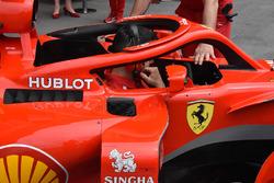 Ferrari SF71H detalle Halo
