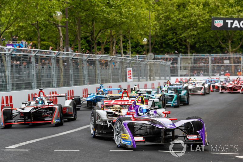 Sam Bird, DS Virgin Racing, Andre Lotterer, Techeetah, Maro Engel, Venturi Formula E Team