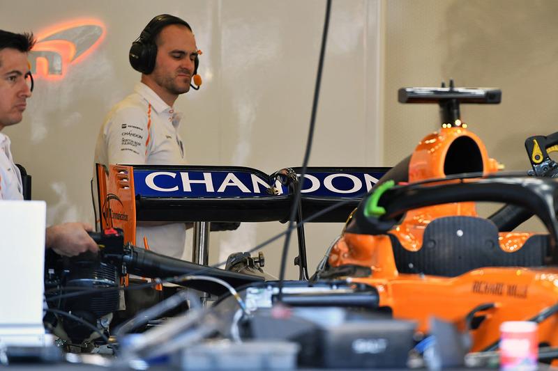Aileron arrière de la McLaren MCL33
