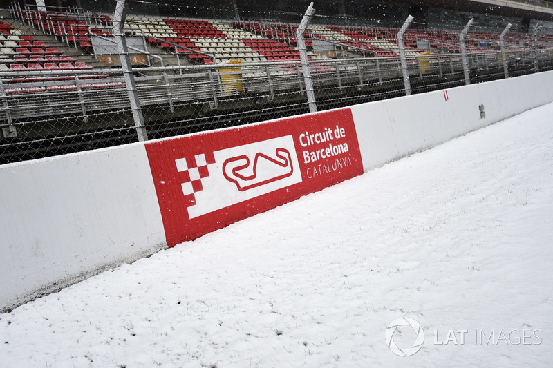 Circuit de Barcelona nevado