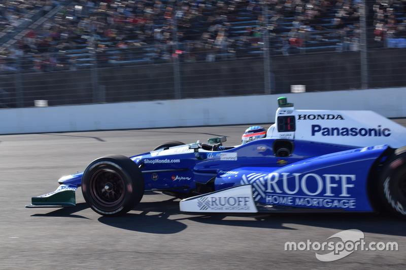 Takuma Sato takes a trip with his IndyCar ride