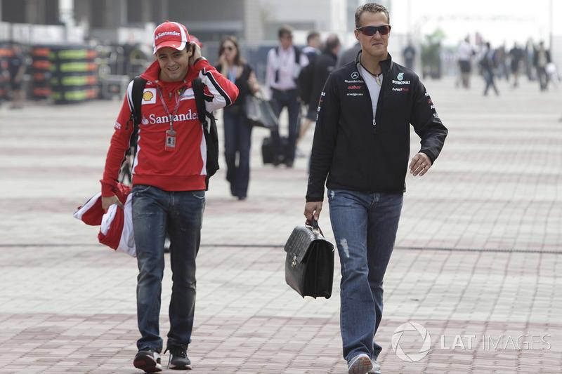 Felipe Massa, Ferrari, Michael Schumacher, Mercedes AMG F1