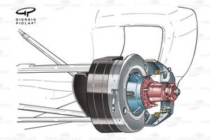 Ferrari F2003-GA (654) 2003 front upright detail