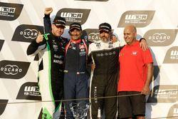 Podium: Race winner Gabriele Tarquini, BRC Racing Team Hyundai i30 N TCR, second place Norbert Nagy, Zengo Motorsport Cupra TCR, third place Yvan Muller, YMR Hyundai i30 N TCR