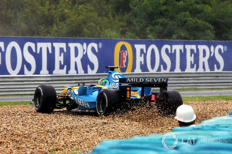Tête-à-queue pour Giancarlo Fisichella, Renault R26