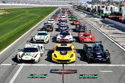 Gruppenfoto: Autos für die 24h Daytona 2018
