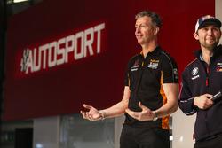 Matt Neal and Andrew Jordan on the Autosport Stage