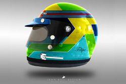 Felipe Massa, helm concept uit jaren 70