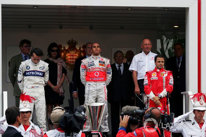 6 Monaco 2008: Lewis Hamilton, Robert Kubica, Felipe Massa