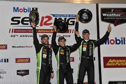 Подиум: победители Пипо Дерани, Йоханнес ван Овербек, Николя Ляпьер, Tequila Patron ESM Nissan