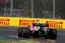 Sergio Pérez, Force India VJM11 con pintura para aerodinámica