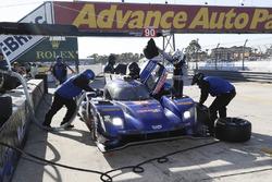 #90 Spirit of Daytona Racing Cadillac DPi, P: Tristan Vautier, Matt McMurry, Eddie Cheever III, pit stop