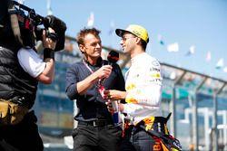 Daniel Ricciardo, Red Bull Racing,en el desfile de pilotos