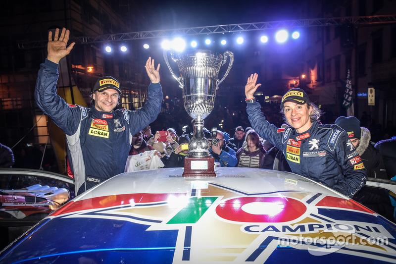 I vincitori Paolo Andreucci, Anna Andreussi, Peugeot 208 T16 R5, Peugeot Sport Italia