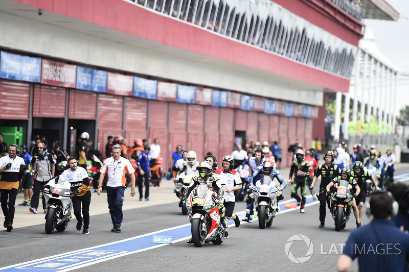 Cal Crutchlow, Team LCR Honda, race start fiasco