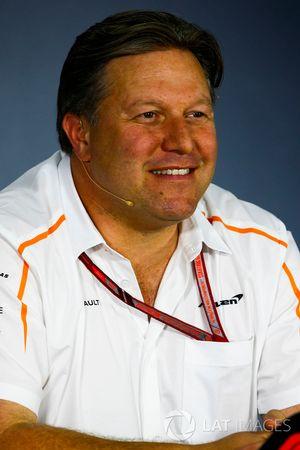 Zak Brown, Direttore Esecutivo, McLaren Technology Group, nella conferenza stampa dei team principal