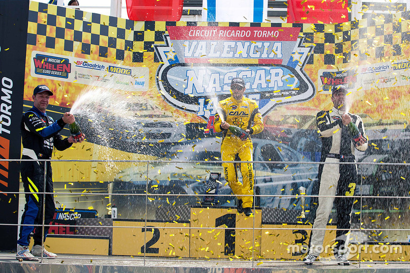 Podium: winner Alon Day, second place Marc Goossens, third place Anthony Kumpen