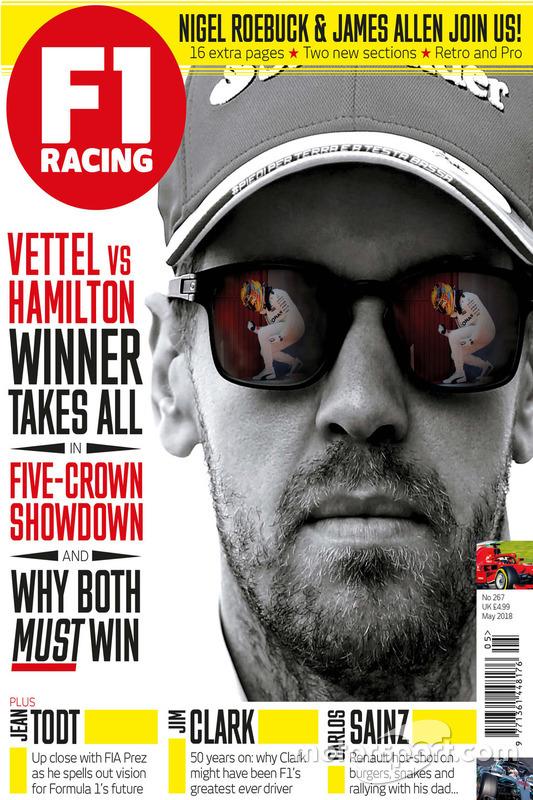Portada de la F1 Racing de mayo