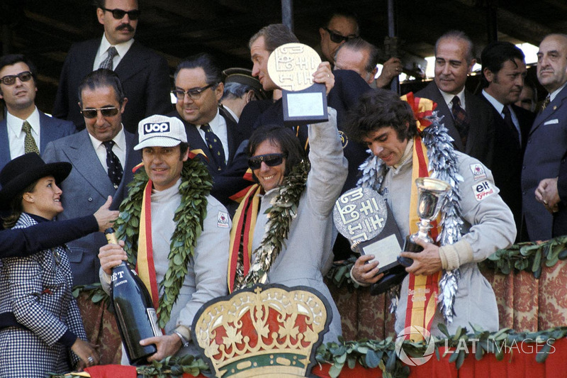 1973. 1. Emerson Fittipaldi, Lotus 2. François Cevert, Tyrrell 3. George Follmer, Shadow