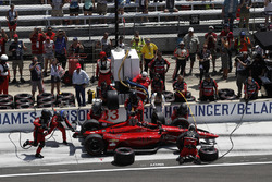 James Davison, A.J. Foyt Enterprises with Byrd / Hollinger / Belardi Chevrolet, pit stop