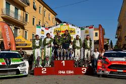 Podio: al secondo posto Umberto Scandola, Guido D'Amore, i vincitori Paolo Andreucci, Anna Andreussi, al terzo posto Andrea Crugnola, Danilo Fappani