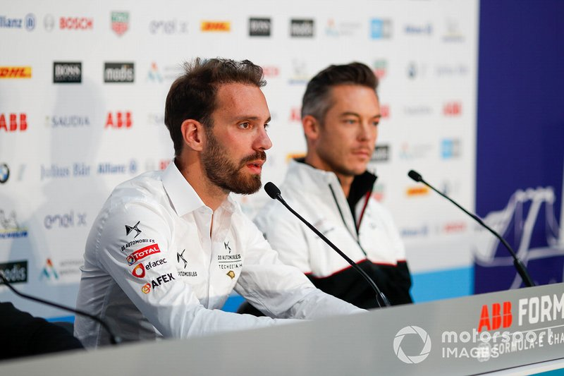 Jean-Eric Vergne, DS Techeetah, Andre Lotterer, Porsche in conferenza stampa