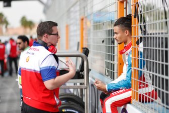 Pascal Wehrlein, Mahindra Racing, on the grid