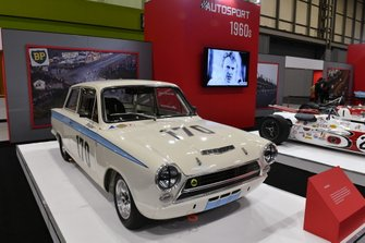 Jim Clark's 1964 Lotus Cortina on the Autosport stand
