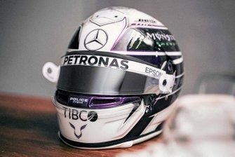 Le casque de Lewis Hamilton, Mercedes