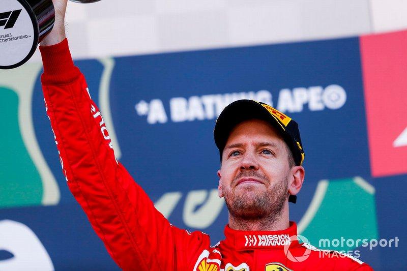 Sebastian Vettel, Ferrari (120 podios)