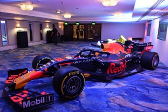 The Red Bull Racing RB15 of Max Verstappen on display