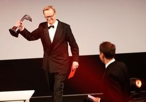 Ari Vatanen presents the Rally Driver of the Year Award
