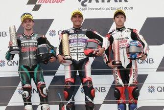 Podium : John McPhee, SIC Racing Team, Albert Arenas, Aspar Team, Ai Ogura, Honda Team Asia