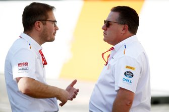 Andreas Seidl, Team Principal, McLaren, and Zak Brown, Executive Director, McLaren
