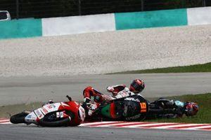 Kaito Toba, Honda Team Asia, Ayumu Sasaki, SIC Racing Team, Andrea Migno, Bester Capital Dubai crash