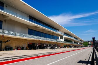 Boxengasse am Circuit of The Americas in Austin