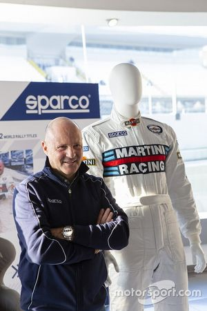 Miki Biasion e la tuta Sparco Martini Racing